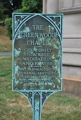The Green-Wood Cemetery Chapel sign (thoth1618) Tags: nyc newyorkcity ny newyork cemetery brooklyn tour greenwoodcemetery greenwood chapel august 2010 brooklynny cemeterytour writteninstone brooklynusa august152010 talesofgreenwood greenwoodcemeterytour thegreenwoodchapel