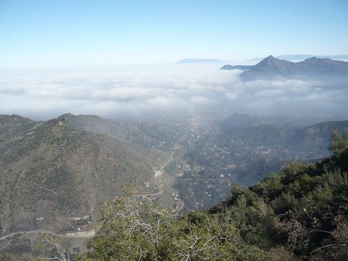 Santiago con neblina