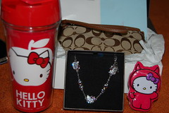 Day 15 - Graduation Gifts (xHeyKelseyyy) Tags: cards coach candy cinnamon hellokitty graduation gifts bracelet thermos checks wristlet 365project