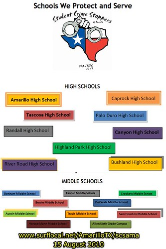 Schools Served by Student Crime Stoppers of Amarillo