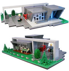 Ishj House (Joh) Tags: house green grass architecture modern copenhagen john garden denmark grey slick flat lego suburban furniture interior townhouse gar