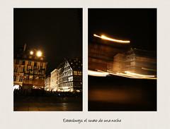 Estrasburgo (La mirada de Gema) Tags: france navidad luces noche verano nocturna strasburg francia estrasburgo tiovivo
