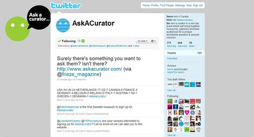 Ask a Curator Twitter
