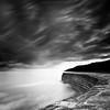 Sundown At The Cobb (Scott Howse) Tags: ocean longexposure sea england sky blackandwhite bw cloud water monochrome lee dorset filters lymeregis graduated thecobb harbourwall nd110 09h