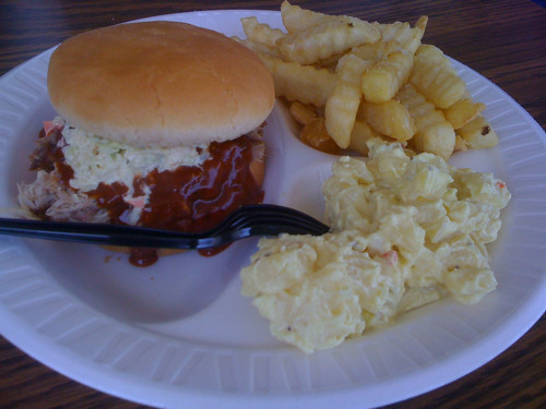 Barbecue sandwich from Coleman's Barbecue