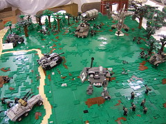 Sci-Fi warfare (Aleksander Stein) Tags: infantry army us lego display military battle scifi collaborative armour nato 2010 ndc cbu nbr brickfair