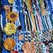 macrame e croche - panô colorido