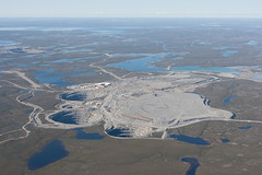 Ekati Diamond Mine 1 (Jason Pineau) Tags: mine nt nwt aerial diamond northwestterritories yoa bhp ekati billiton cyoa
