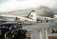 Hong Kong - We rode back to Oki in one of these planes - 3 Jan 54 (Phil Roeder) Tags: color zeiss asia explore 1950s kodachrome ikon koreanwar c46 contessa explored scancafe