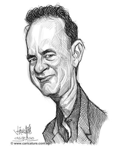 Schoolism - Assignment 1 - Sketch 3 of Tom Hanks