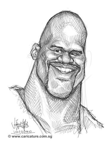 Schoolism Assignment 2 - sketch study of Shaquille O'neil - 4