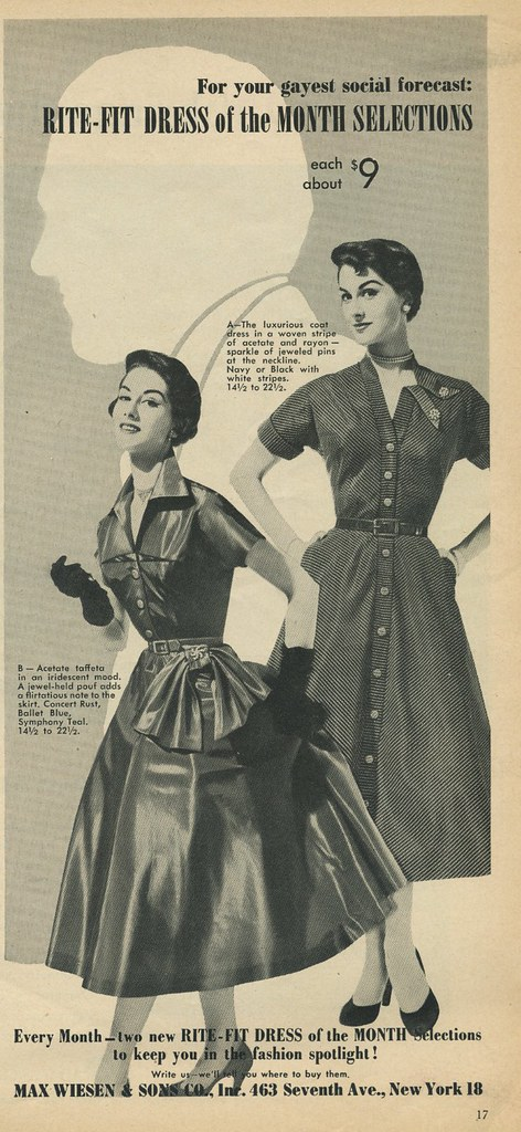 Max Wiesen and Sons dress ad 1953