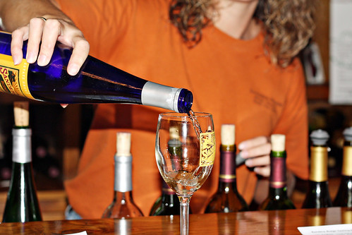 D3 pour wine