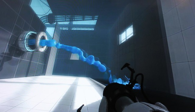 Screenshots Portal 2 fluido azul