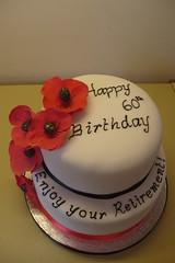 Poppy retirement cake (K Cs Cakes) Tags: cake poppy retirement