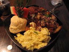 IMG_6548 (Darryl James - White Sheep) Tags: california food house fruit turkey restaurant potatoes sandiego ground august biscuit eggs onion hash 2010 watermellon hashhouseagogo smokedmozzarella hardwoodsmokedbacon