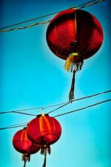 chinatown- los angeles (Matt Kawashima) Tags: losangeles chinatown china la california asian chinese powerlines blue sky red