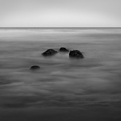 Goleta Point Ocean Rocks (Mike Roslek) Tags: ocean bw seascape beach santabarbara square rocks ucsb goleta campuspoint explored goletapoint