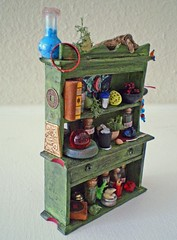 Miniature Asian Apothecary Wizard Hutch~1:12th Scale (Enchanticals~ Death in Family) Tags: wood blue red wallpaper shells man black green halloween mushroom glass leather yellow metal vintage ball circle asian mirror book miniature branch sitting dragon bottles crystal herbs furniture wizard chinese knife ring spots fantasy bark button hutch collectible etsy apothecary windchime diorama crystalball wizards glassbottles chinesecharacters healer herbalist chinesecoin alteredfurniture roombox 112thscale dollhouseminiature onetwelfthscale artistmade etsyteams minimakers faeteam damteam teammids enchanticals miniaturedollhousescale minitreasures scaleoneinch handcraftedminiatures enchanticalsetsy 112scaledollhousescale dragonmasque