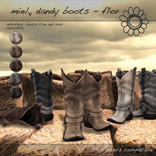 Miel Dandy Boots Flor