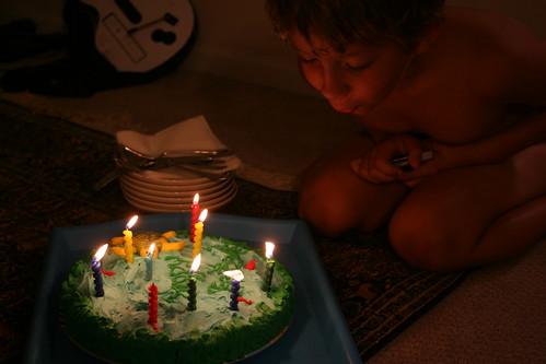 8/18/10: Blowing out 9 candles.