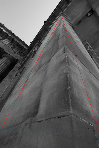 pespective triangle apex at top - lines