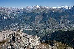 View from the Illhorn on the Rhone valley Photo