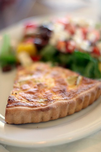 Fresco North - quiche and salad