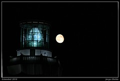 Sile lighthouse and fullmoon