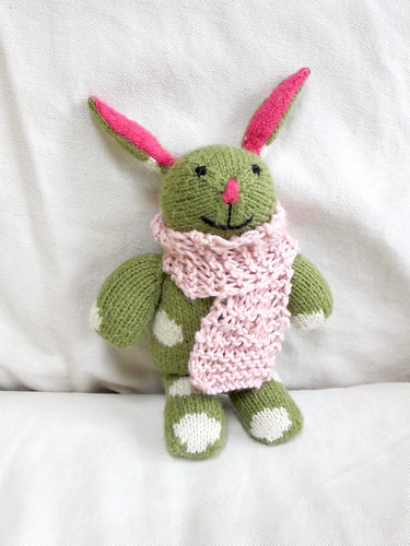 sally rabbit's new scarf