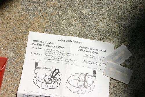 wool cutter instructions in German