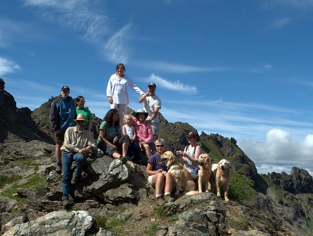 Group Photo on Top of Sauk Mountain