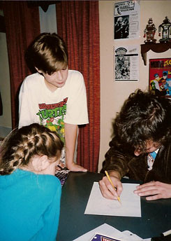 Kevin Eastman @ TMNT  comic book store Summer signing (( 1987 ))