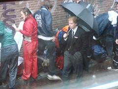 Stroll (indigo_jones) Tags: morning holland students netherlands rain umbrella university utrecht boots nederland luggage bags tradition morningsuit regen paraplu introduction unitas rainsuit ontgroening