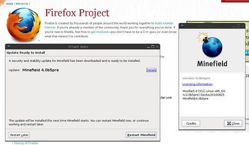 YJL: Auto-update of Firefox