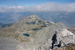 The Illhorn and Schwarzhorn as seen from the Rothorn (2998m) Photo