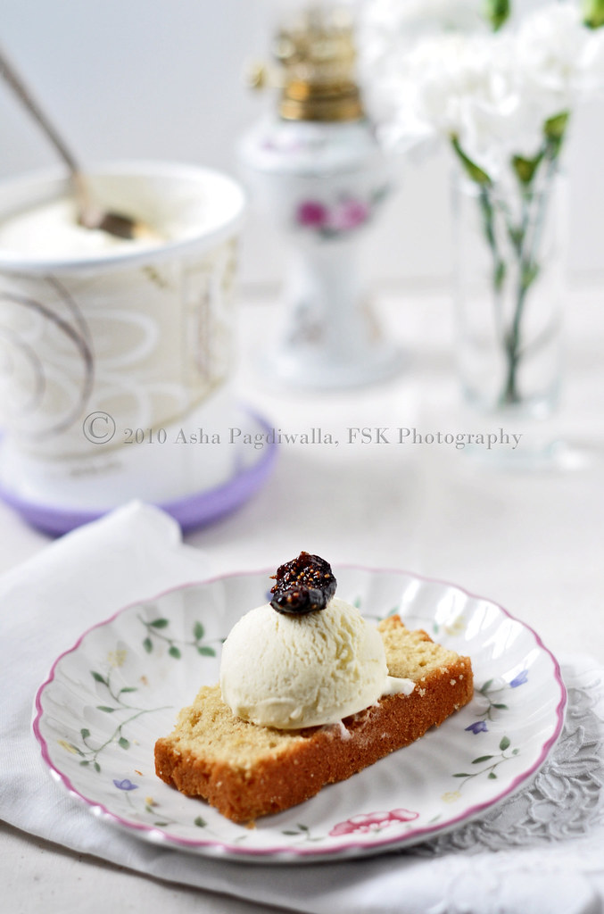 Brown Butter Pound Cake and Ice Cream