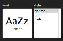 You can choose to make our system fonts bold and italic.