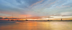 Aruba Palm Beach Sunset (DiGitALGoLD) Tags: ocean sunset sea sky beach coast boat nikon long exposure tripod palm aruba catamaran sail caribbean nikkor f28 gitzo d3 1424 papiamento 1424mm