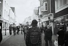 DIY fix (Ben K Adams) Tags: street camera uk england people bw white black public vintage magazine photography kent adams image ben stock olympus canterbury potd cc license editorial 40 om unposed 1980s 1985 rf licensing royaltyfree stockimage noncommercial 500px editorspick schtumple