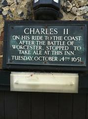 Photo of Charles II of England black plaque