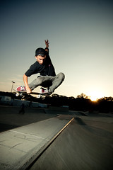 Tucked (Chris Meium Photography) Tags: west alex night canon skateboarding cement rail tokina tricks skatepark flip northdakota nd danny skateboard trick grind fargo dike 1224 50d strobist