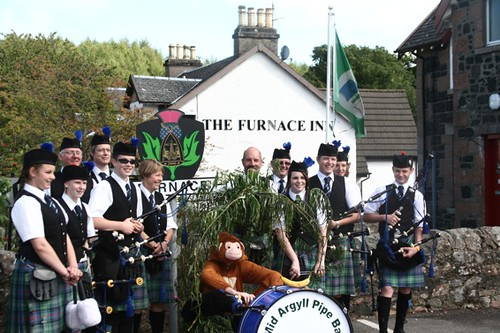 Mid Aergyll Pipe Band at Furnace 29th August 2010
