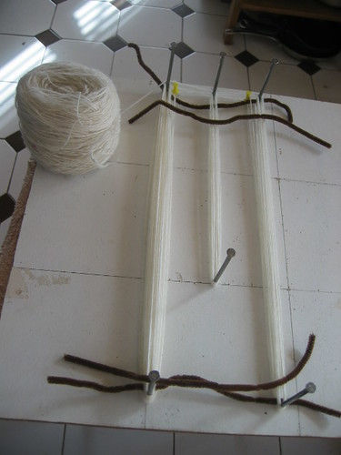 Sock warping board ..1