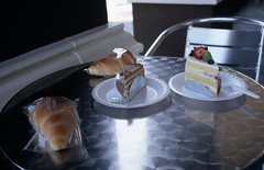 Cake (airencracken) Tags: food 120 6x6 film 35mm mediumformat la losangeles fuji may slidefilm 135 sawtelle e6 100asa 2010 emulsion fujisensia100 100iso fujisensia leicam3 prolab airencracken swanlabs