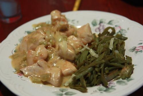 Creamy Southwestern Chicken with green beans