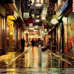 wanker lane, in the rain