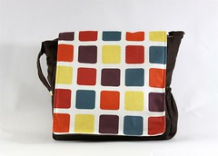 Colorful Squares Messenger Bag