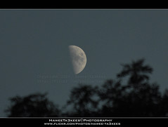 The Moon @ Age 6 Days ({ahradwani.com} Hawee Ta3kees- ) Tags: light sky moon london night europe hassan 70300mm essex 2010  ingatestone d90     nikond90 nikon70300mmvr  london2010 nikond90club hawee haweeta3kees   ta3k