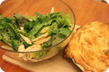 pie + garden salad